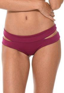 Braguita de bikini ciruela con recortes - CALCINHA SOLSTICE SANGRIA