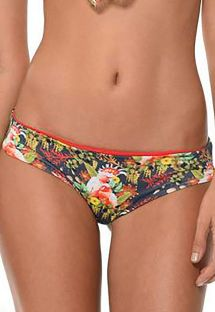 Bird of paradise print swimsuit bottom - CALCINHA SUMMER BIRD