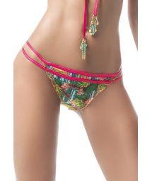 Tropical scrunch bikini bottom with pink waistband - BOTTOM MAR AMAZÓNICO