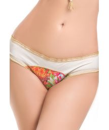 Gold-edge, printed bikini briefs - BOTTOM MAR DE AMBAR