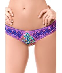 Fixed printed swimsuit bottoms with embroidery - BOTTOM MAR DE FIESTA