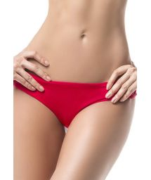 Red bikini bottom with macrame details - BOTTOM MAR DE LIBERTAD