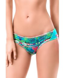 Two-tone printed scrunch bikini briefs - BOTTOM MAR DE MANGLAR
