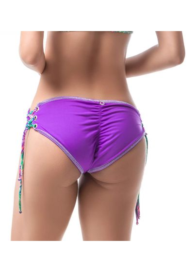 Purple scrunch bikini bottom - BOTTOM MAR FORESTAL HALTER