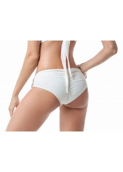 Accessorized larger side white bikini bottom - BOTTOM MAR GUAJIRO