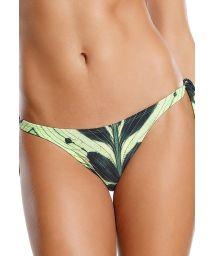 Brasilian Bikinihöschen, zum Verknoten, grünes Blattmotiv - BOTTOM CORCOVADO