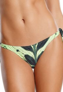 Green leaves side-tie bikini bottom - BOTTOM CORCOVADO