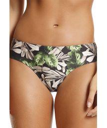 Black floral larger side bikini bottom - BOTTOM DOLL NATURE