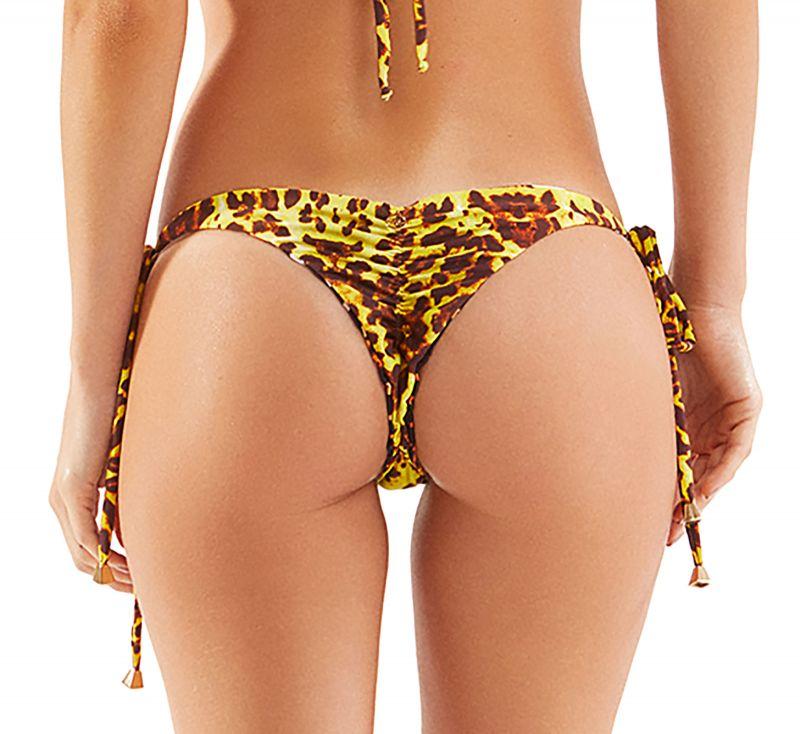 Reversible animal print Brazilian scrunch bikini bottom - BOTTOM DUPLA PELE SELVAGEM