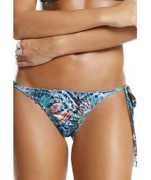 Fräck, vändbar skrynklad bikininederdel - ljusblå - BOTTOM SEA REVERSIBLE