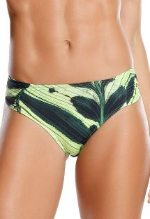 Fixed Brazilian bikini bottom in green leaves print - BOTTOM TERRA DE SAMBA