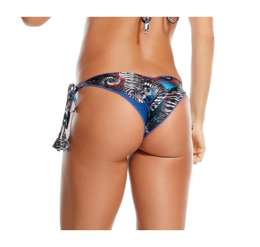 Blue print ruched Brazilian bottom - CALCINHA CRAB BLUE