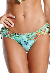 Brazilian tropical bottom with wide pleated sides - CALCINHA RELVA