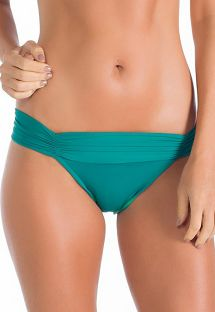 Fixed green Brazilian bottom with pleated belt - BOTTOM ALFA