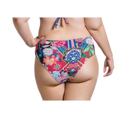 Cororful plus size bikini bottom - BOTTOM BELLA JARDIM ESCURO PLUS