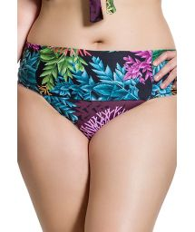 Plus size bikini bottom in coral print - BOTTOM BELLA PLANTAS PLUS