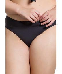 Plus size black bikini bottom - BOTTOM BOA NOITE ESCURA PLUS