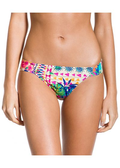 Colorful ethnic fixed bikini bottom - BOTTOM CROPPED ETNICO