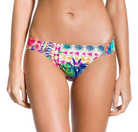 Farbenfrohe feste Bikinihose mit Ethnomuster - BOTTOM CROPPED ETNICO