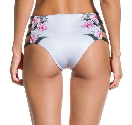 High-Waist-Bikinihose, khaki Seitenschnüre - BOTTOM CROPPED FLOR DE KAKI