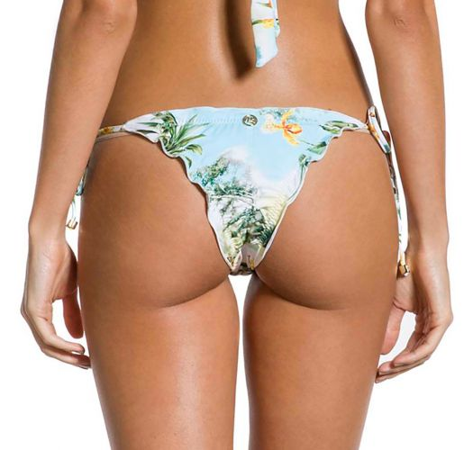 Geblümte Scrunch-Bikinihose mit Accessoire - BOTTOM CROPPED MANHÃ