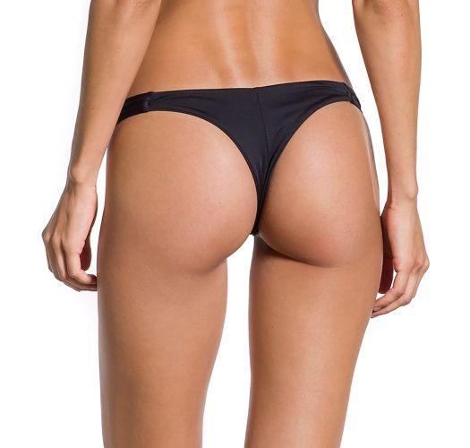 Schwarze feste Mikro-Bikinihose - BOTTOM CROPPED NOITE ESCURA