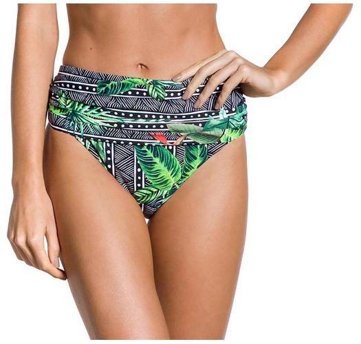 1dbe997e Geometrisk- og tropisk-mønstrete bikinitruse med høyt liv - BOTTOM DUNAS MAR