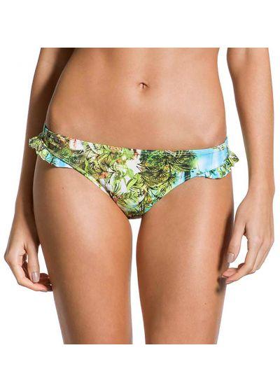 Tropical Brazilian bikini bottom with ruffled sides - BOTTOM FRUFRU PARAISO TROPICAL