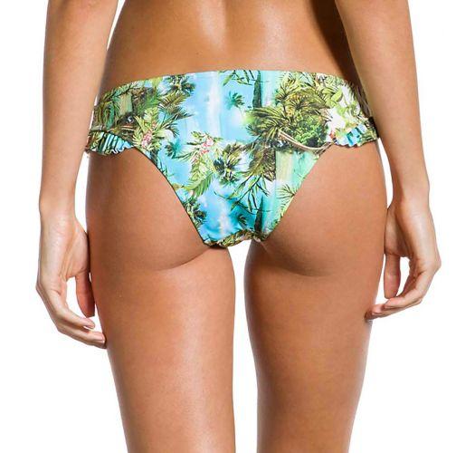 Bikinihose mit Tropenprint und Seitenvolants - BOTTOM FRUFRU PARAISO TROPICAL
