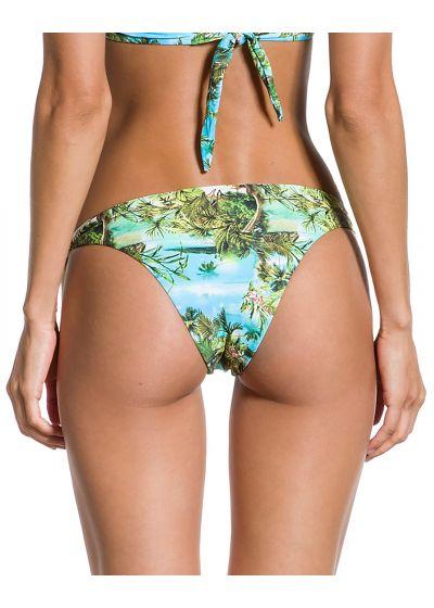 Tropical printed side-tie bikini bottom - BOTTOM GRACIA PARAISO TROPICAL