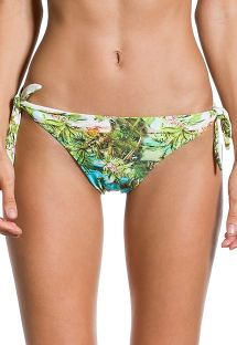 Tropical printed side-tie bikini bottom - BOTTOM GRACIA PARAISO TROPICAL