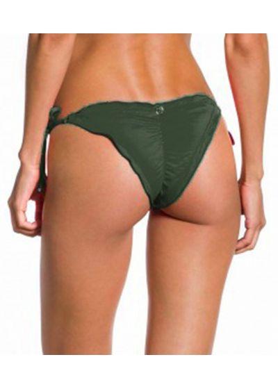 Military green wavy Brazilian scrunch bikini bottom - BOTTOM ONDA KAKI