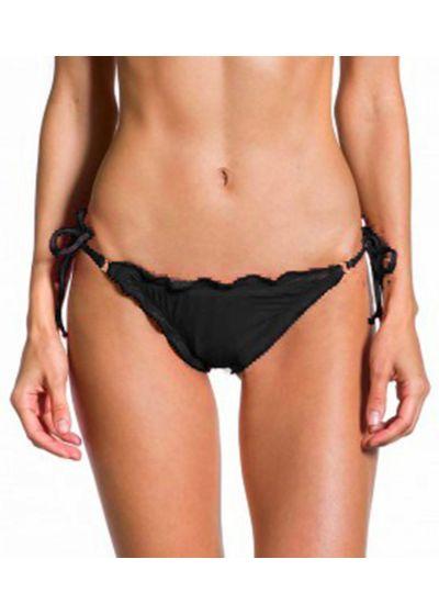 Black wavy Brazilian scrunch bikini bottom - BOTTOM ONDA PRETO