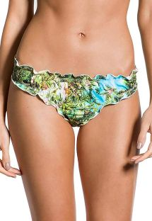 Brazilian fixed bandeau bikini in tropical print - BOTTOM PRAIA DA FORMOSA