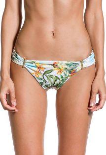 Geblümte Bikinihose mit goldenen Details - BOTTOM PRAIA DAS ACACIAS