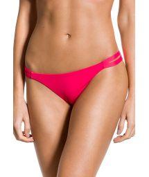 Dark pink fixed bikini bottom with double side - BOTTOM SOL SUNRISE