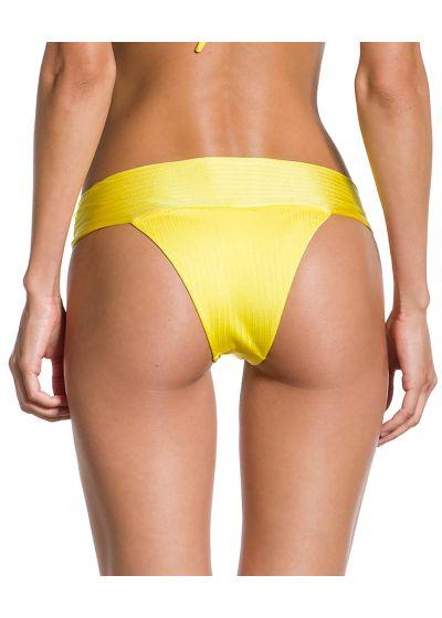 Textured iridescent yellow Brazilian bikini bottom - BOTTOM SOL TEXTURA