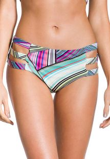 Graphic print larger-side bikini bottom - BOTTOM VILA DO PORTO