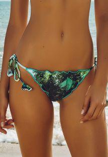 Rypytetty uimatanga, vihreä kuosi, solmittava - CALCINHA BELMONTE