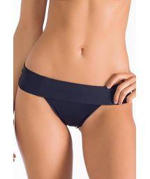Black Brazilian foldover bikini bottoms - CALCINHA CAIRU