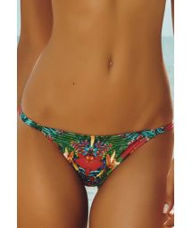 Narrow side floral tanga bikini bottom - CALCINHA FAROL DA BARRA