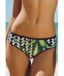 Floral print wide side bikini bottom - CALCINHA ITAPUA