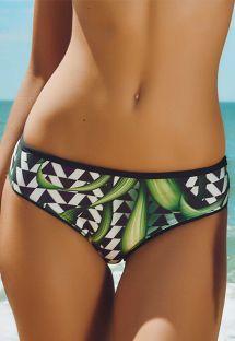 Floral print wide side bikini bottom - CALCINHA ITAPUA