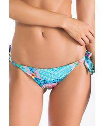 Blue print Brazilian bottom with attractive ties - CALCINHA LAGO AZUL
