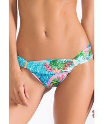 Accessorised tropical print Brazilian bottom - CALCINHA LAGOA AZUL