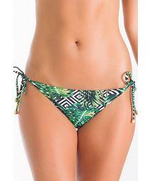 Tropical/geometric Brazilian scrunch bikini bottoms - CALCINHA PERI
