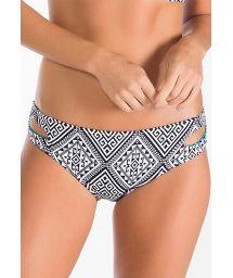 Bicoloured geometric bikini bottoms with cutouts - CALCINHA TAKAYLA