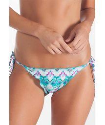 Tie-dye scrunch Brazilian bottoms, ruffled edges - CALCINHA TAY DAY