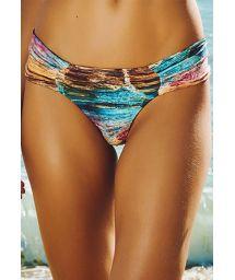 Wide-sided multicoloured swimsuit thong - CALCINHA VENICE BEACH