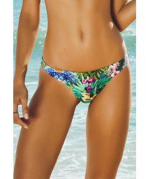 Tropical floral tanga swimsuit bottom - CALCINHA VERAO
